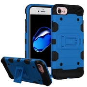 Insten Storm Tank Hybrid Hard/TPU Protective Case [Military-Grade Certified] For Apple iPhone 7 / 6s / 6 - Blue/Black