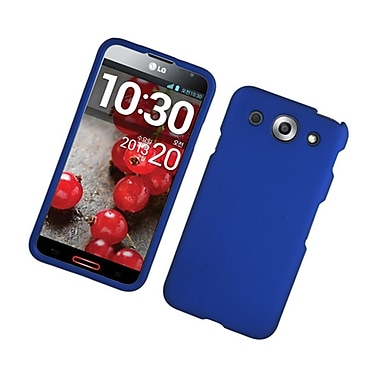 Insten Hard Rubber Coated Case For LG Optimus G Pro - Blue