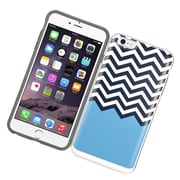 Insten Wave Hard Hybrid Dual Layer Case with card slot holder For Apple iPhone 6/6s - Black/Blue