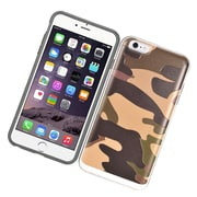 Insten Camouflage Hard Dual Layer Hybrid Case with card slot holder For Apple iPhone 6/6s - Brown