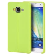 Insten Leather Look Finish Slim Jacket TPU Rubber Gel Case For Samsung Galaxy A7 - Green