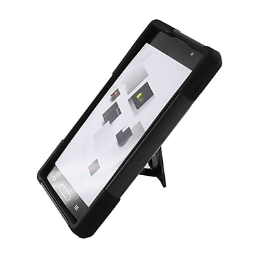 Insten Hard Dual Layer Plastic Silicone Case with stand for LG Optimus L9 P769 - Black