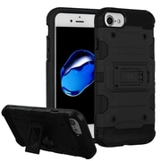 Insten Storm Tank Hybrid Hard/TPU Protective Case Cover [Military-Grade Certified] For Apple iPhone 7 / 6s / 6 - Black