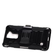 Insten Hard Hybrid Plastic Silicone Stand Case with Holster For LG Stylus 2 - Black