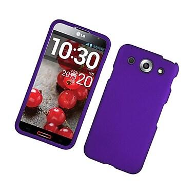 Insten Hard Rubber Cover Case For LG Optimus G Pro - Purple