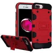 Insten Storm Tank Hybrid Hard/TPU Protective Case For Apple iPhone 7 Plus / 6s Plus / 6 Plus - Red/Black