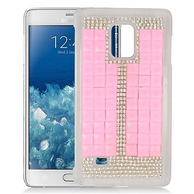 Insten Checker Hard Diamante Case For Samsung Galaxy Note Edge - Pink/Silver