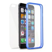 Insten Book Gel Cover Case For Apple iPhone 6s Plus / 6 Plus - Clear/Blue