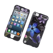 Insten Butterfly Hard Case For Apple iPod Touch 5th Gen - Black/Purple
