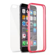 Insten Book TPU Case For Apple iPhone 6s Plus / 6 Plus - Clear/Pink