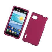 Insten Hard Rubberized Cover Case For LG Optimus F3 LS720 - Hot Pink