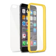 Insten Book TPU Cover Case For Apple iPhone 6s Plus / 6 Plus - Clear/Yellow