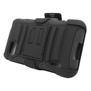 Insten Stand Dual Layer Hybrid Case with Holster For LG Optimus F3 LS720 - Black