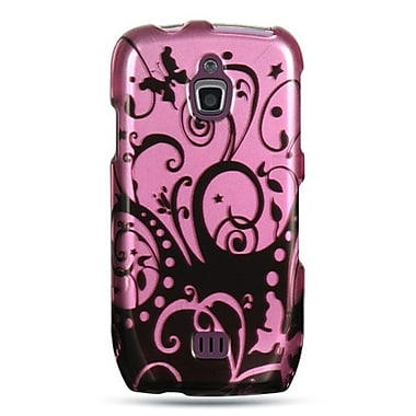 Insten Hard Crystal Skin Back Protective Shell Cover Case For Samsung Exhibit 4G T759 - Purple Black Swirl