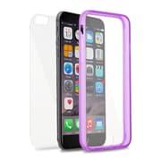Insten Book TPU Case For Apple iPhone 6s Plus / 6 Plus - Clear/Purple