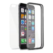 Insten Book Rubber Cover Case For Apple iPhone 6s Plus / 6 Plus - Clear/Black