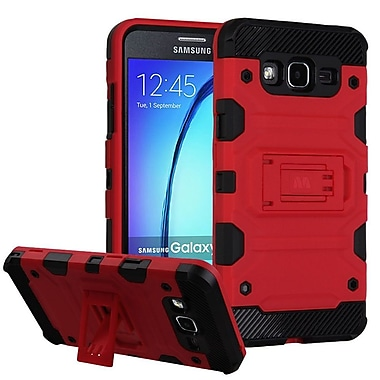 Insten Storm Tank Hybrid Hard/TPU Protective Case Cover [Military-Grade Certified] For Samsung Galaxy On5 - Red/Black
