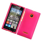 Insten Hard Rubber Case For Microsoft Lumia 435 - Hot Pink