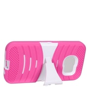 Insten Wave Symbiosis Skin Dual Layer Rubber Hard Case w/stand For Samsung Galaxy S7 - Hot Pink/White