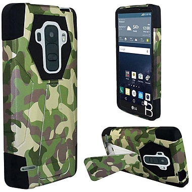 Insten Hard Hybrid Rugged Shockproof Plastic Silicone Case with Stand For LG G Stylo - Green/Black