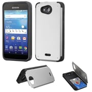 Insten Hard Case w/card holder For Kyocera Hydro Wave - Silver/Black