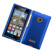 Insten Hard Rubber Coated Case For Microsoft Lumia 435 - Blue