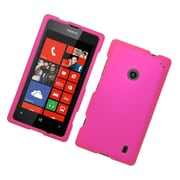 Insten Hard Rubber Coated Case For Nokia Lumia 520 - Hot Pink
