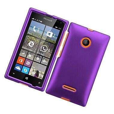 Insten Hard Rubberized Case For Microsoft Lumia 435 - Purple