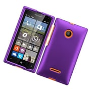 Insten Hard Rubberized Case For Microsoft Lumia 435 - Purple