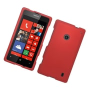 Insten Hard Rubberized Case For Nokia Lumia 520 - Red