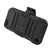 Insten Advanced Armor Dual Layer Hybrid Stand PC/Silicone Holster Case Cover for Apple iPod Touch 5th Gen - Black