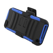 Insten Advanced Armor Dual Layer Hybrid Stand PC/Silicone Holster Case Cover for Apple iPod Touch 5th Gen - Black/Blue
