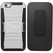 "iPhone 6 Plus 6S Plus Case, by Insten Hybrid Hard Case with Stand for iPhone 6 Plus 6S Plus 5.5"" , White/Black"