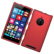 Insten Hard Rubber Coated Cover Case For Nokia Lumia 830 - Red