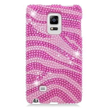 Insten Zebra Hard Bling Case For Samsung Galaxy Note Edge - Pink/Hot Pink