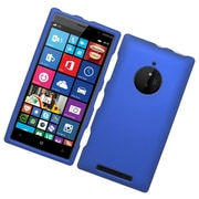 Insten Hard Rubber Coated Cover Case For Nokia Lumia 830 - Blue