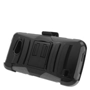 Insten Stand Dual Layer Hybrid Case with Holster For Huawei Tribute 4G LTE - Black/Gray