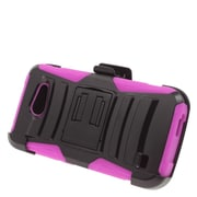 Insten Stand Dual Layer Hybrid Case with Holster For Huawei Tribute 4G LTE - Black/Hot Pink