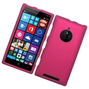 Insten Hard Rubber Coated Case For Nokia Lumia 830 - Hot Pink