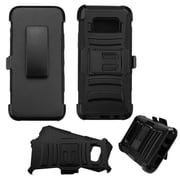 Insten Advanced Armor Hybrid Hard PC/Silicone Cover Case with Holster Clip For Samsung Galaxy S8 - Black