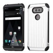 Insten Hard Dual Layer TPU Case For LG V20 - Silver/Black