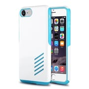 iPhone 7 Case, by Insten Light Blue Skin/White Hard Shockproof Anti-Scrathes Hybrid Case for Apple iPhone 7