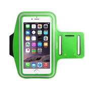 """Insten Armband Running Workout Gym Sportband Pouch Holder Case (6.49"""" x 3.74"""") for iPhone 7 6s 6 Plus Universal - Green"""