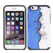 Insten Vines Hard Dual Layer Silicone Cover Case For Apple iPhone 6 - Blue/White
