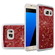 Insten Liquid Quicksand Glitter Fused Flexible Hybrid TPU Cover Case For Samsung Galaxy S7 - Rose Pink