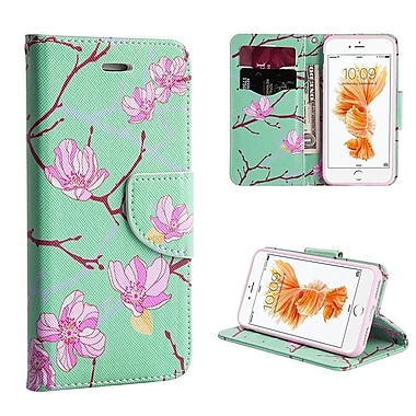 Insten® Leather Wallet Case Stand with Cash ID Credit Card Slots for Apple iPhone 7, Japanese Blossom(2277306)