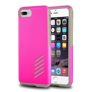 iPhone 7 Plus Case, by Insten Light Gray Skin/Hot Pink Hard Shockproof Anti-Scrathes Hybrid Case for Apple iPhone 7 Plus