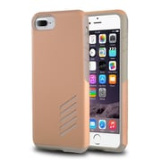 iPhone 7 Plus Case, by Insten Light Gray Skin/Rose Gold Hard Shockproof Hybrid Case for Apple iPhone 7 Plus