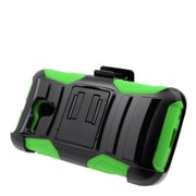 Insten Stand Dual Layer Hybrid Case with Holster For Alcatel One Touch Pop Star (4G) - Black/Green
