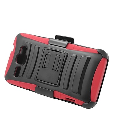Insten Stand Dual Layer Hybrid Case with Holster For Alcatel One Touch Sonic - Black/Red
